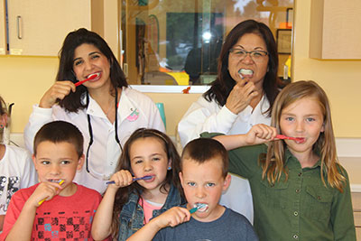 Team brushing - Pediatric Dentist in Newbury Park, CA